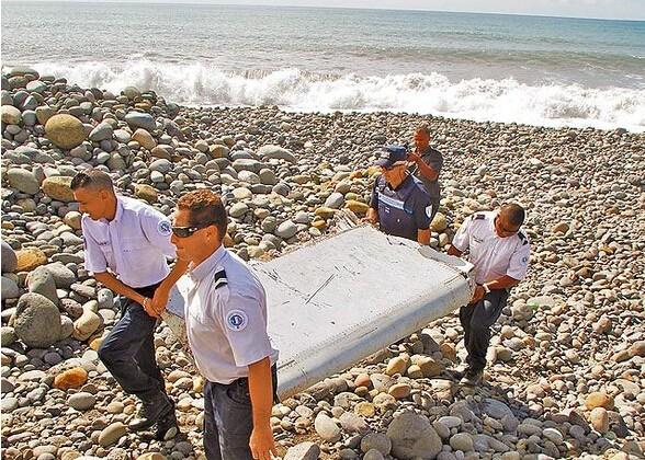 马航mh370客机残骸